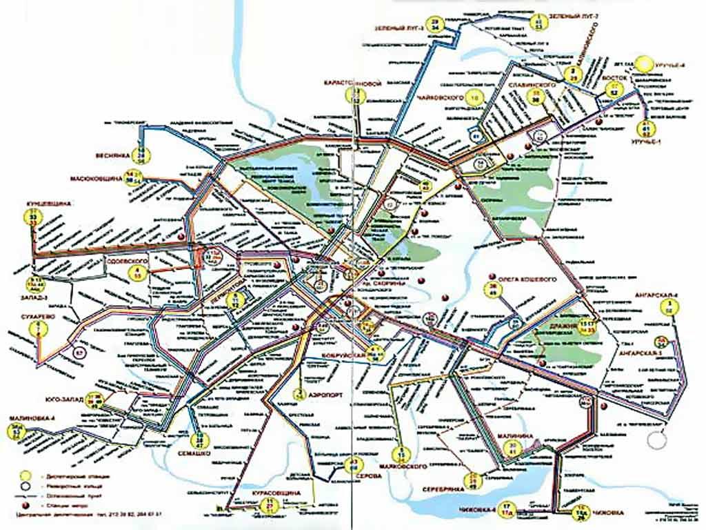 Схема троллейбусных маршрутов Минска.  Общественный транспорт Минска.